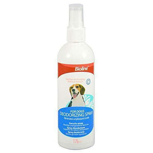 Bioline Deodorizing Spray for Dogs 175ml available at allaboutpets.pk