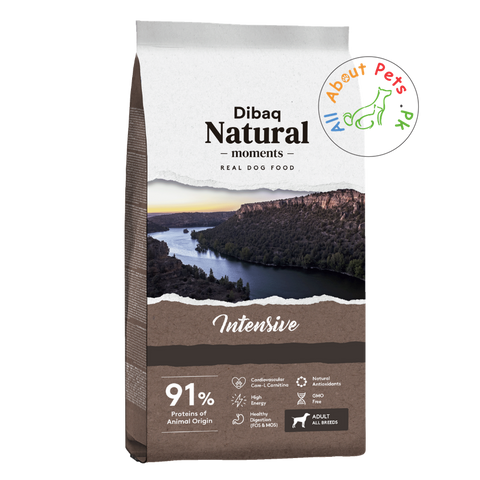 DIBAQ Natural Moments Intensive dog food available at allaboutpet.pk in Pakistan