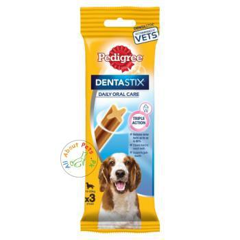 Pedigree Dentastix Oral Care Dog Treat X3 Triple Action available at allaboutpets.pk in Pakistan