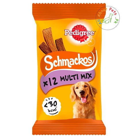 Pedigree Schmackos Dog Treats Multi Mix x12 available at allaboutpets.pk in Pakistan