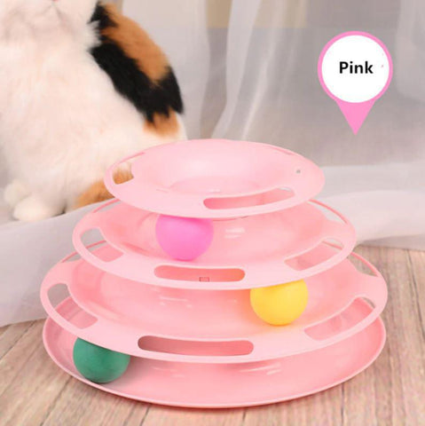Image of Cat Toy 3-level Tower of Tracks