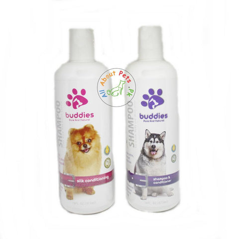 Buddies Dog Shampoo 473ml silk conditioning, shampoo & conditioner available in pakistan at allaboutpets.pk