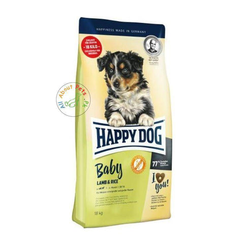 HAPPY DOG Baby Lamb & Rice 18 kg available in Pakistan at allaboutpets.pk