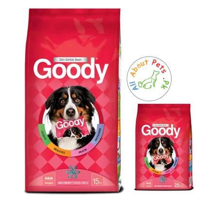Goody Dog Food High Energy 2.5kg and 15kg available at allaboutpets.pk in Pakistan