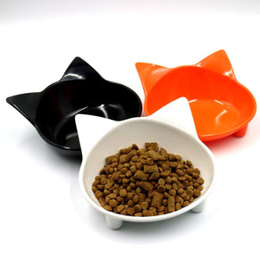 Cat Shape Melamine Cat Feeding Bowl Anti-Slip available at allaboutpets.pk in Pakistan