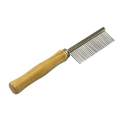 Comb for Dogs & Cats Wood Handle, cat comb, dog comb, stainless steel pet comb high quality available at allaboutpets.pk in pakistan.
