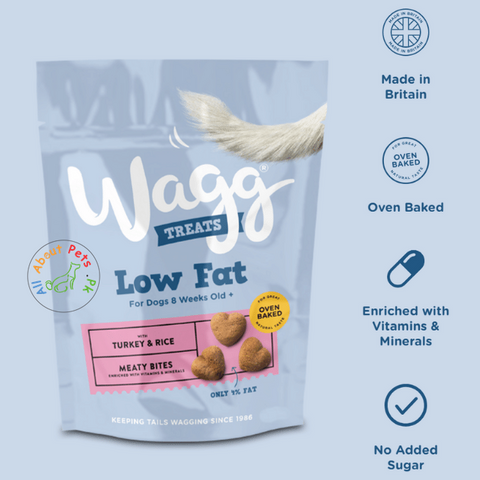 Wagg Turkey and Rice Low Fat Dog Treats 100g available at allaboutpets.pk in Pakistan