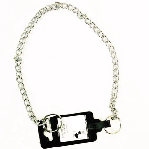 Choke Chain Chrome for dogs Ferplast  34cm, 38cm and 42cm available at allaboutpets.pk in pakistan.