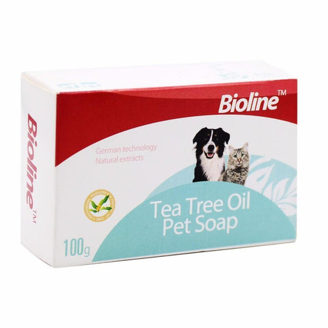 Bioline Tea Tree Oil Pet Soap 100g available at allaboutpets.pk