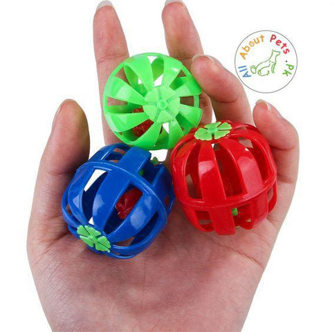 Cat Toy Plastic Hollow Ball With Bell available at allaboutpets.pk in Pakistan
