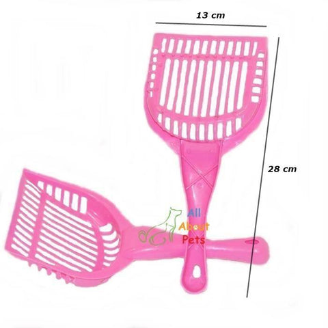 Cat Litter Scoop, large size pink litter scoop available at allaboutpets.pk in Pakistan.