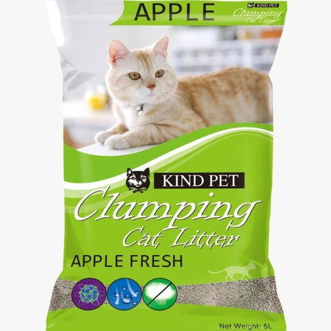 Kind Pet Cat Litter Apple Scented 5L dust free & easy clumping available at allaoutpets.pk in pakistan.