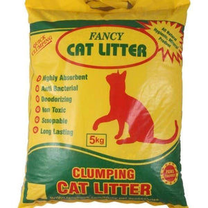 Fancy Cat Litter Clumping 5 KG, Anti-Bacterial Deodorizing Max Absorption Long Lasting Non Toxic  available at allaboutpets.pk in pakistan.