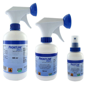Frontline Spray for cat and dog tick and flea issue available online in pakistan at allaboutpets.pk