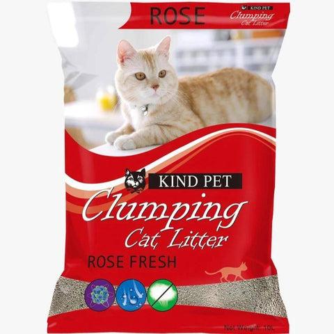 Kind Pet Cat Litter rose Scented 5L dust free & easy clumping available at allaoutpets.pk in pakistan.