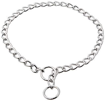 Image of Choke Chain Chrome for dogs Ferplast  50 cm available at allaboutpets.pk in pakistan.