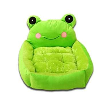 Cat Bed Green Cute Cartoon Frog, soft cat bed, green cat bed available at allaboutpets.pk in pakistan.