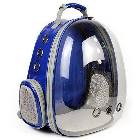 Image of Transparent Cat Carrier Backpack, pet carrier bag blue color available at allaboutpets.pk in pakistan.