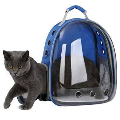 Transparent Cat Carrier Backpack, pet carrier bag blue color available at allaboutpets.pk in pakistan.