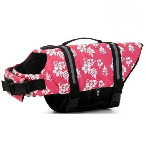 Dog Life Jacket for Dog Safety Vest Dog Jacket Dog Preservers Saver Pink color with Flowers large size available at allaboutpets.pk in pakistan