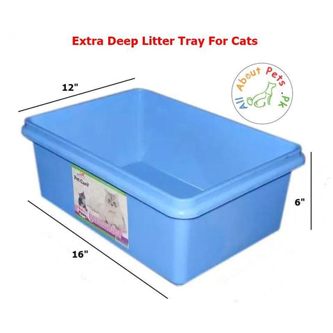 Cat Litter Tray Extra Deep blue color available in Pakistan at allaboutpets.pk