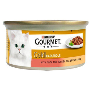 Gourmet Gold Duck & Turkey Casserole 85g, cat wet food available at allaboutpets.pk in pakistan.