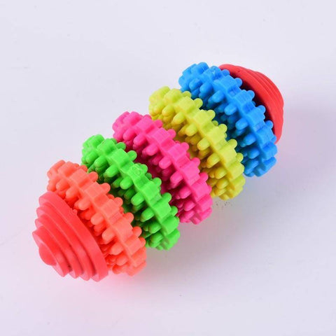 Puppy Dental Teething Toy multi color rings non toxic 5 rings available at allaboutpets.pk in pakistan.