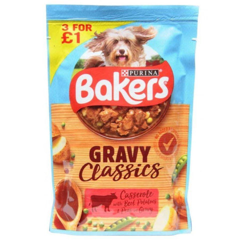 Purina Bakers Gravy Classics Beef Casserole in Gravy 100g available online in pakistan at allaboutpets.pk