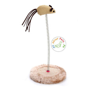 Interactive Teaser Cat Toy With Sisal Scratching
