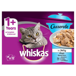 Whiskas 1+ Casserole Fish Selection Cat Food 85g available at allaboutpets.pk in Pakistan