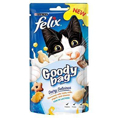 Image of Felix Goody Bag Treats, Dairy Delicious,x available at allaboutpets.pk in pakistan.