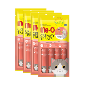 Meo Creamy Treats Salmon Flavor 15 g. (4 pcs./Pack) available at allaboutpets.pk  in Pakistan