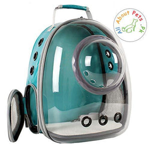 Pet Travel Bag Capsule Carrier Backpack green color available at allaboutpet.pk in Pakistan