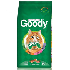 Goody Cat Food In Gourmet 500g, 2.5kg and 15kg available at allaboutpets.pk in Pakistan