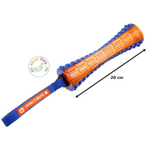 Trixie gigwi Johnny Stick Dog Toy Push to Mute orange and blue color available at allaboutpets.pk in Pakistan