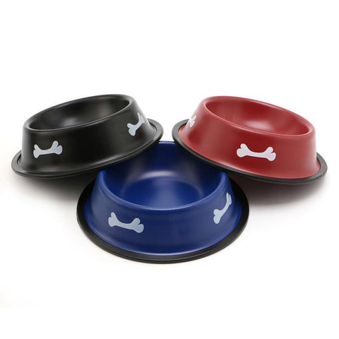 Feeding Bowl Colored Steel for Dogs & Cats