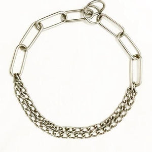 "Chrome Plated Choke Show Long+Double - 24"", dog choke chain, stainless steel choke chain available at allaboutpets.pk in pakistan."