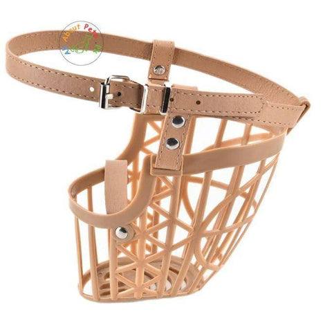 Image of Dog Muzzle High Quality Plastic Basket Design Anti-biting Adjusting Straps available in Pakistan at allaboutpets.pk