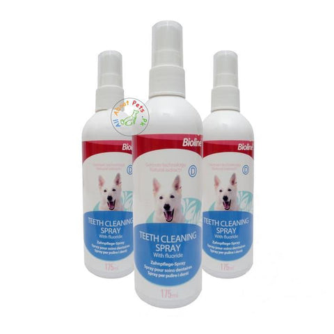 Bioline Teeth Cleaning Spray 175ml available at allaboutpets.pk