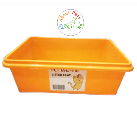 Cat Litter Tray Extra Deep orange color available in Pakistan at allaboutpets.pk