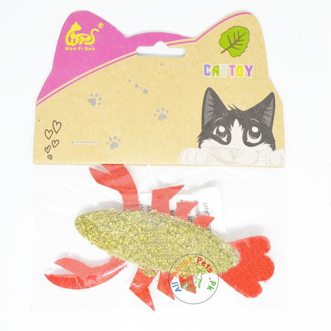 Image of Catnip Compressed Toy For Cats cray fish available at allaboutpets.pk in Pakistan