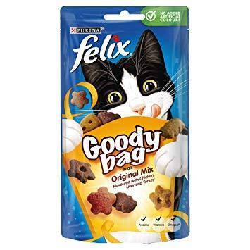 Felix Goody Bag Treats, picnic mix, Orignal Mix available at allaboutpets.pk in pakistan.