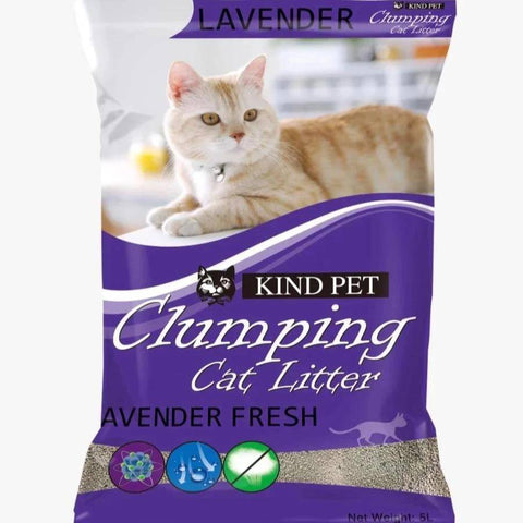Kind Pet Cat Litter Lavender Scented 5L dust free & easy clumping available at allaoutpets.pk in pakistan.