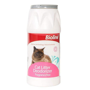 Bioline Cat Littter Deodorant Powder 425g available at allaboutpets.pk