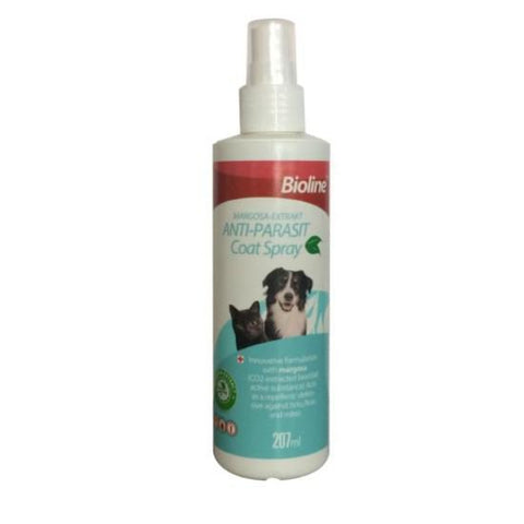 Bioline Anti-Parasite Coat Spray for cats and dogs 207ml available at allaboutpets.pk