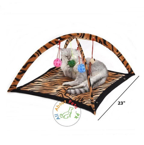 Cat Bed Pad Blanked With Cat Toys available at allaboutpets.pk in Pakistan