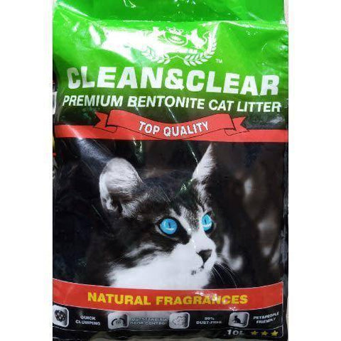 Clean And Clear Premium Bentonite Cat Litter apple Fragrance 10L available at allaboutpets.pk in pakistan
