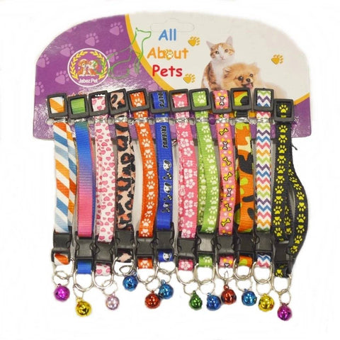 Beautiful adjustable assorted multi color collars for cats and small dogs available online at allaboutpets.pk in pakistan.