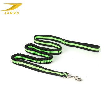 black and green bungee leash bicycle leash