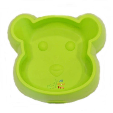 Image of Bear Face Plastic Bowl green color available at  allaboutpets.pk in pakistan.